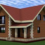Проект дома из пеноблока 13 на 9 метров