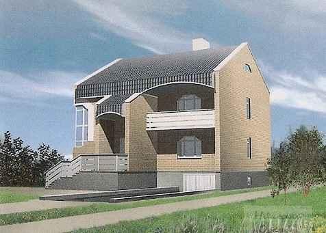 Проект кирпичного двухэтажного дома