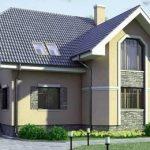Проект кирпичного дома с гаражом 14×10