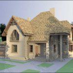 Проект кирпичного дома с гаражом 202 м2