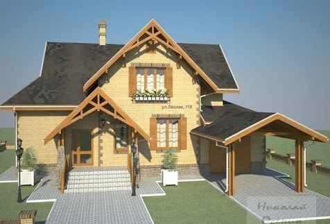 Проект дома из газоблока