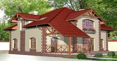 Проект мансардного дома 208 м2