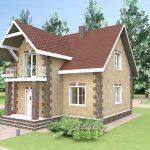 Проект частного дома из пеноблоков