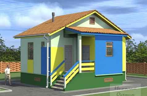 Проект однокомнатного дома