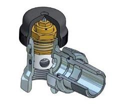 Термостатический клапан с преднастройкой