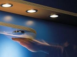 точечные светильники в шкафу