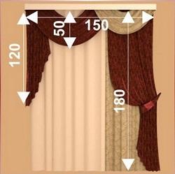 Как рассчитать количество ткани для штор