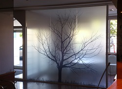 Покрытие стен стеклом