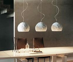 потолочные светильники над столом