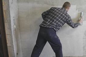 Подготовка оштукатуренных стен под обои