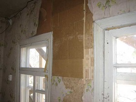 Обивка стен картоном