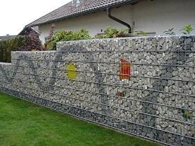 Габионы в качестве ограды