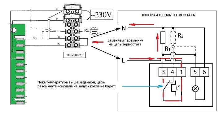 Принцип работы комнатного термостата