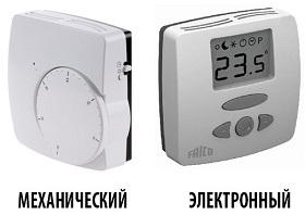 Механические и электронные комнатные термостаты
