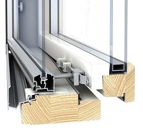 деревоалюминиевые скандинавские окна