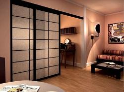 Раздвижные двери в зонировании